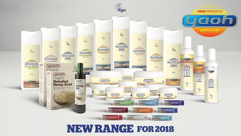 Original UK hemp company Yaoh launches new range of ethical vegan bodycare products