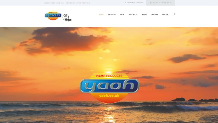 Brand-new website for one of the UK's first hemp companies Yaoh now live