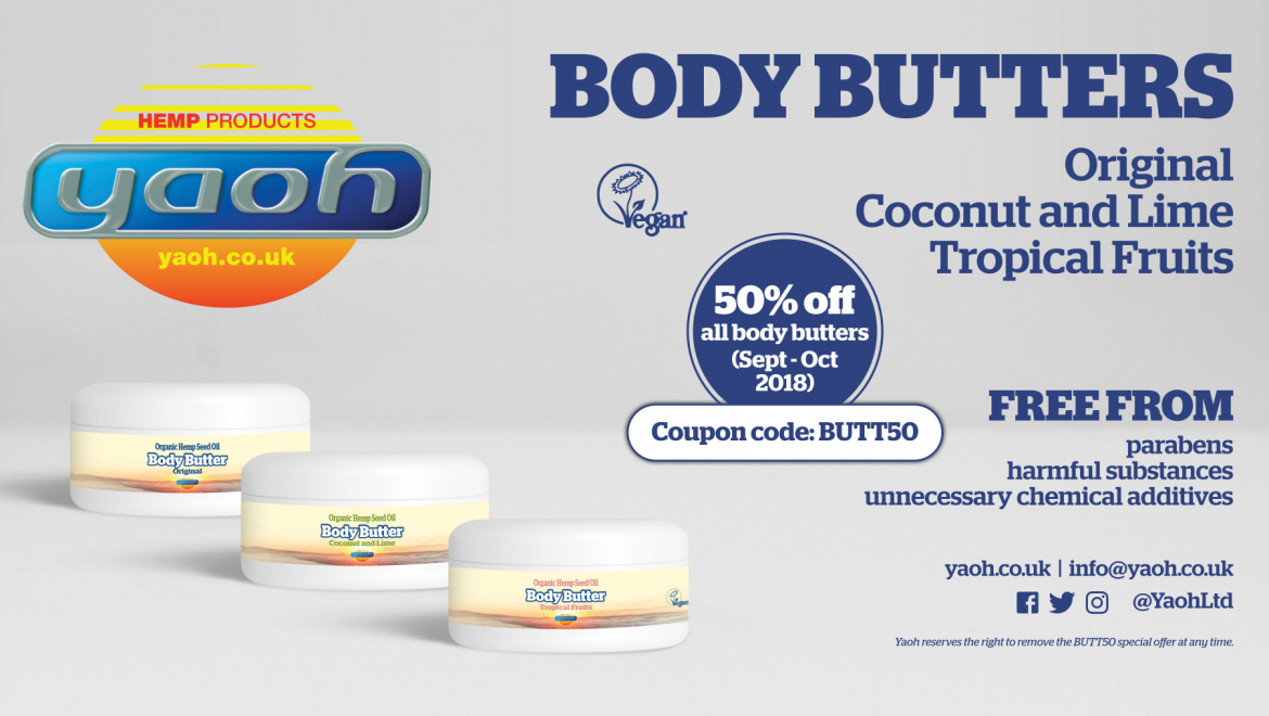 Yaoh's brand-new luxurious and rejuvenating vegan Body Butters available at half price online