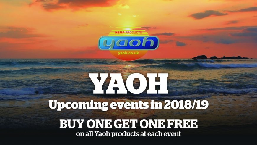 UK hemp company Yaoh to exhibit at various vegan fairs across the country in 2018/19
