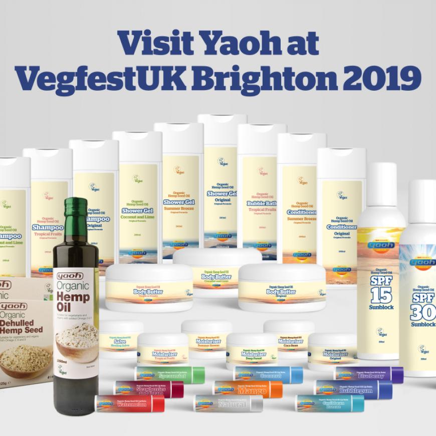 UK hemp company Yaoh sponsoring VegfestUK Brighton 2019
