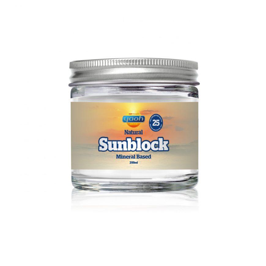 Natural SPF-25 Sunblock 200ml (Glass Jar)
